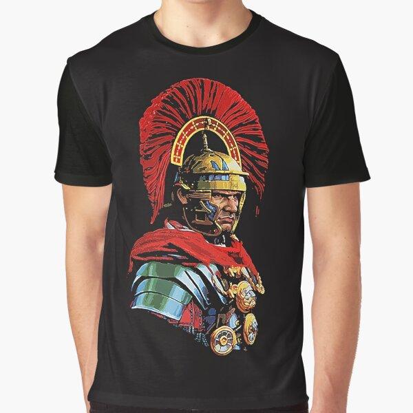 Roman Centurion Portrait Graphic T-Shirt