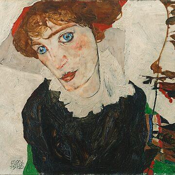 Portrait of Wally by Egon Schiele by VintageArchive