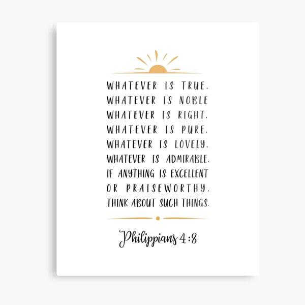 Phillipians 4:8 Metal Print
