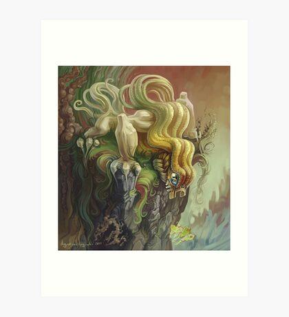 Curly Dragon Art Print
