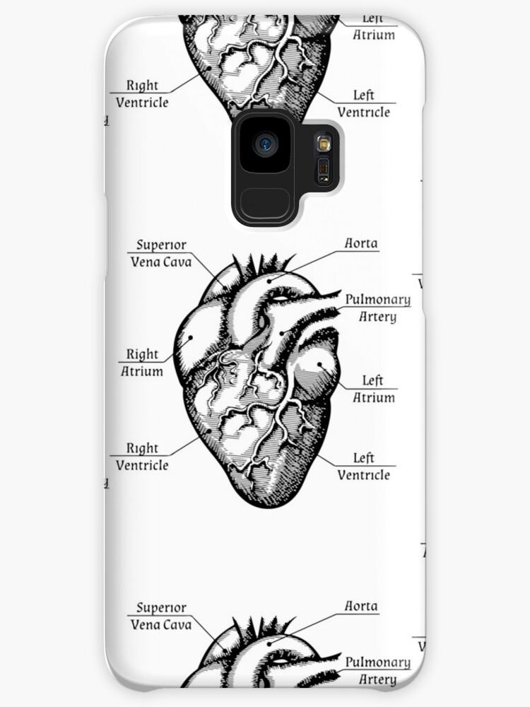 Fundas y vinilos para Samsung Galaxy «Corazón anatómico - Funny ...