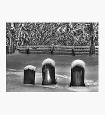 3 Headstones Photographic Print