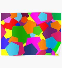 Multi Coloured Shapes Poster