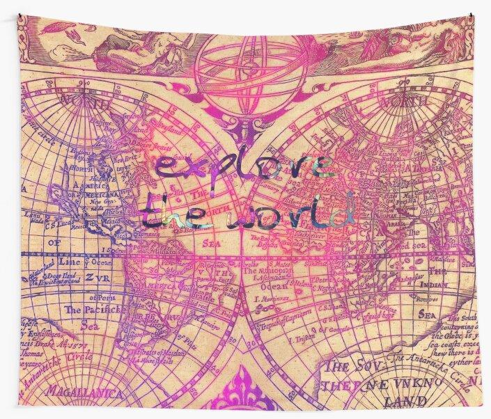 explore the world #worldmap #map #explore by JBJart