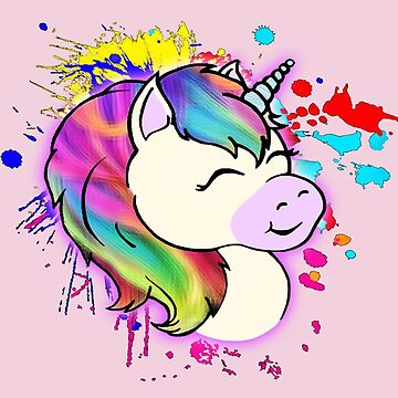 Happy Rainbow Unicorn by NeuroRebel