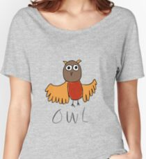 Owl - part of the 'My Favourite Animal' range Women's Relaxed Fit T-Shirt
