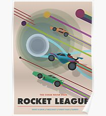 Rocket League - The Chase Never Ends (NASA STYLE DESIGN) Poster