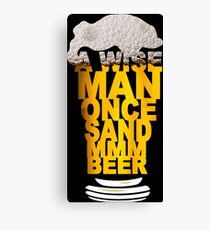 MMM BEER! Funny Geek Nerd Canvas Print