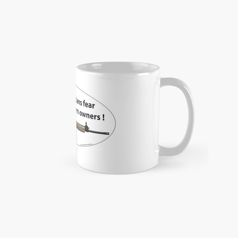 Only Crooked Politicians fear firarms Mugs