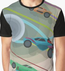 Rocket League - The Chase Never Ends (NASA STYLE DESIGN) Graphic T-Shirt