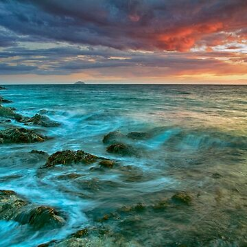 Sunset View To Ailsa Craig from Dunure by Sumosan