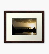Hunter River Sunrise Framed Print