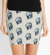 Gorilla rage Art Work pattern Mini Skirt