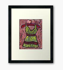 Dress on a hanger Framed Print