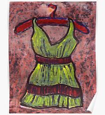 Dress on a hanger Poster