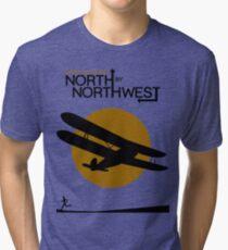 North by northwest Funny Geek Nerd Tri-blend T-Shirt