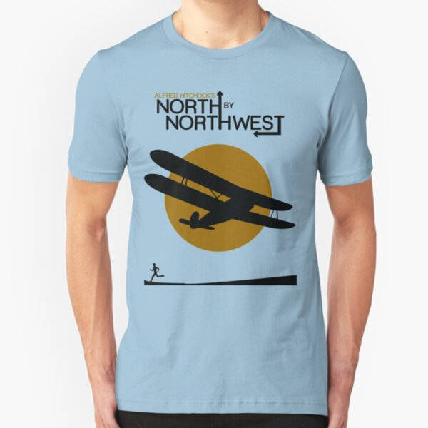 North by northwest Funny Geek Nerd Slim Fit T-Shirt