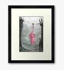 Floating Pink Elephant Framed Print
