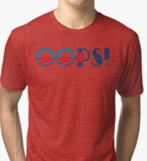 OOPS! Funny Geek Nerd Tri-blend T-Shirt