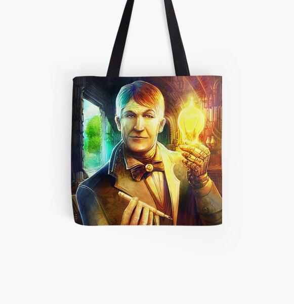 Steampunk Edison All Over Print Tote Bag