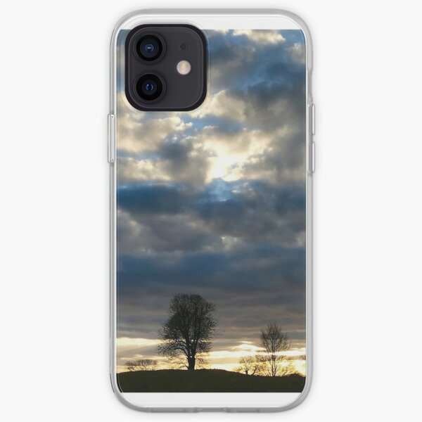 Evening shadows at Avebury iPhone Soft Case