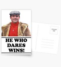 Delboy - He who dares wins Postcards