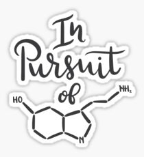 In Pursuit of Seratonin Sticker