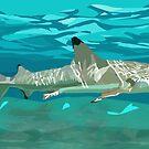 Black Tipped Reef Shark (birthday gift) by Derek Des Anges