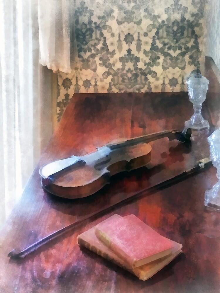 Violin on Credenza by Susan Savad