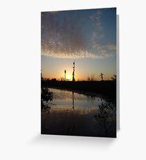 Sunset January 21, 2009 on Econfina Creek Greeting Card