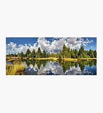 The Grand Tetons panorama Photographic Print