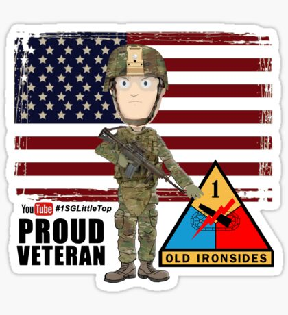 1st Armored Division - Proud Veteran Sticker