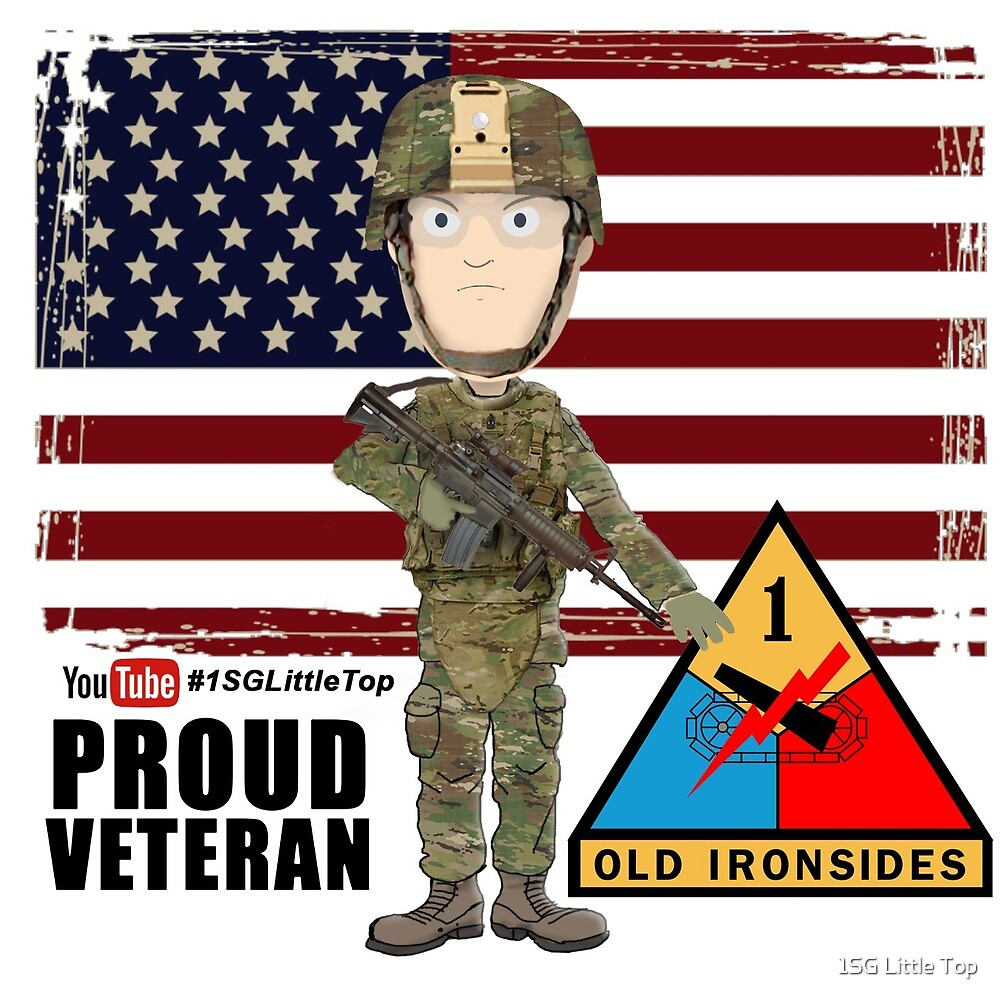 1st Armored Division - Proud Veteran by 1SG Little Top