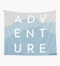 ADVENTURE - Blue Mountain Range Wall Tapestry