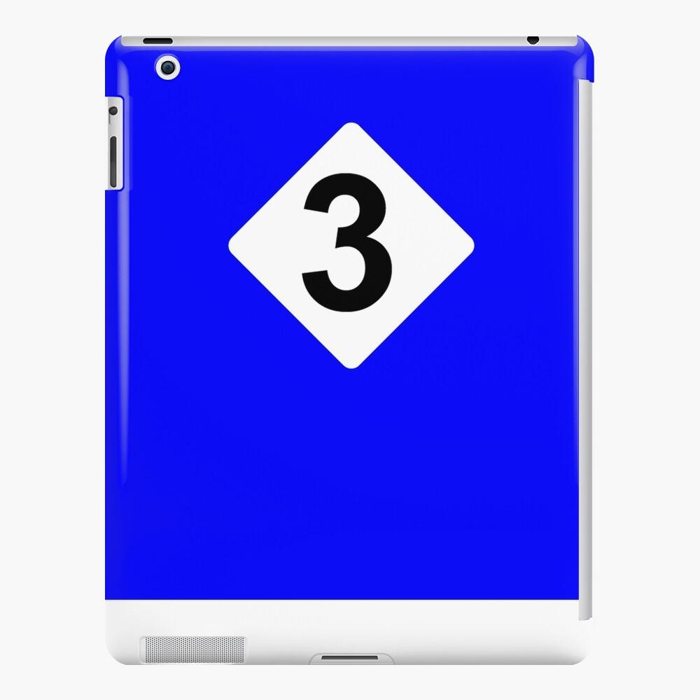 3 RACING BLEU iPad Case & Skin