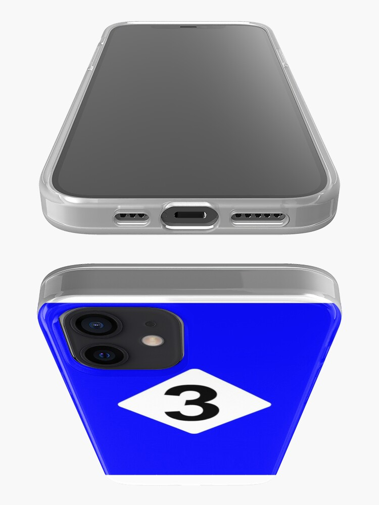 Alternate view of 3 RACING BLEU iPhone Case & Cover