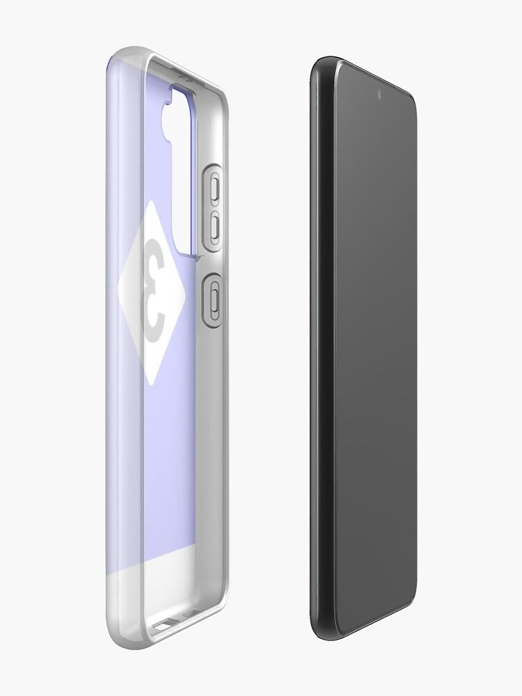 Alternate view of 3 RACING BLEU Case & Skin for Samsung Galaxy