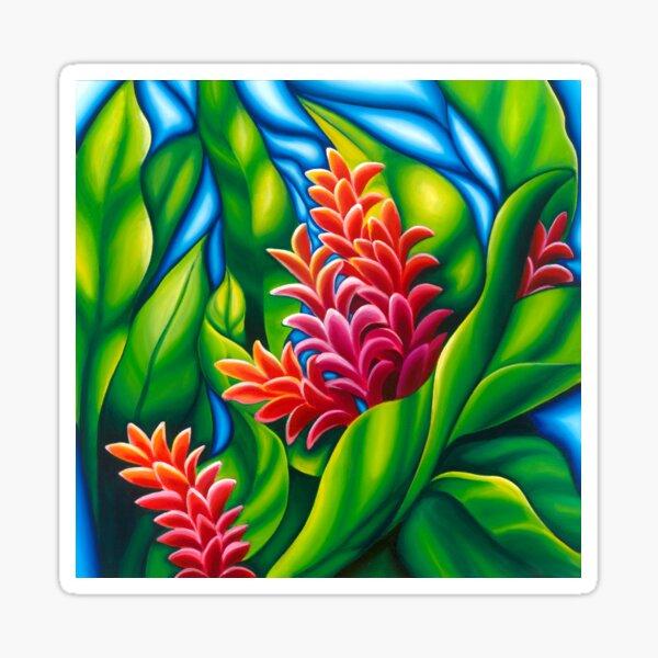Ginger Flower Floral Motif Sticker