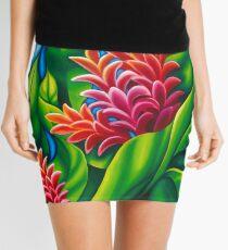 Ginger Flower Floral Motif Mini Skirt