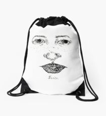 portrait  Drawstring Bag
