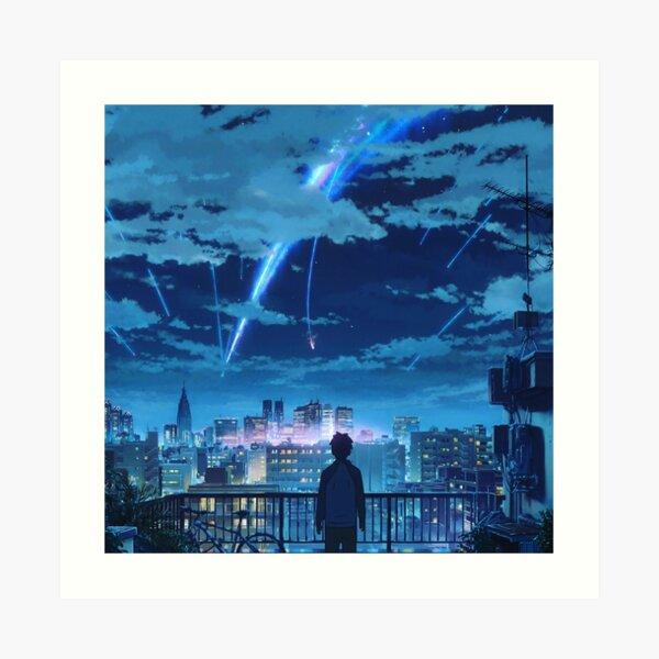 kimi no na wa // tu nombre Taki Stars Balcony Lámina artística