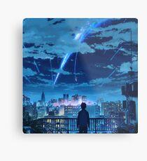 kimi no na wa // your name Taki Stars Balcony  Metal Print