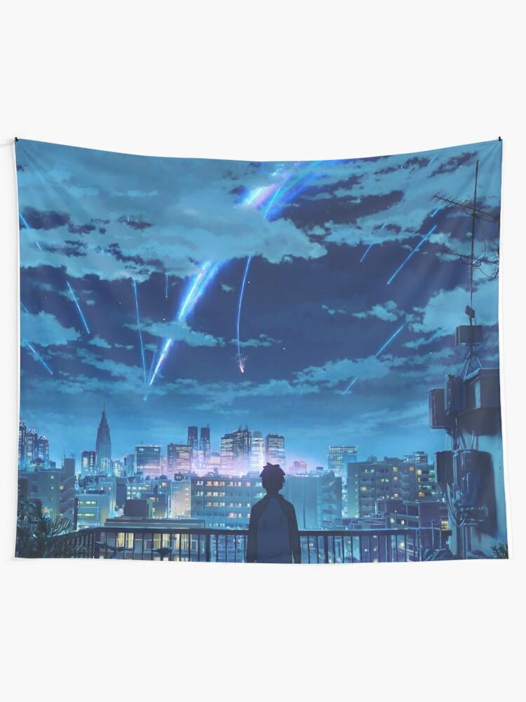 Alternate view of kimi no na wa // your name Taki Stars Balcony  Tapestry