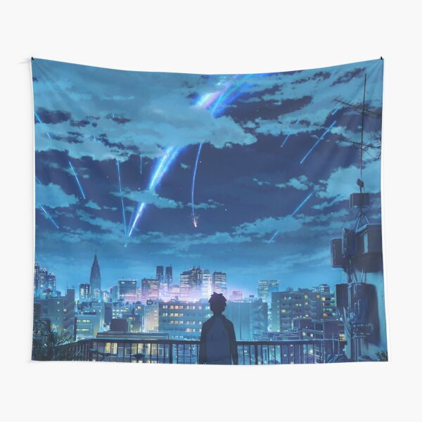 kimi no na wa // your name Taki Stars Balcony  Tapestry