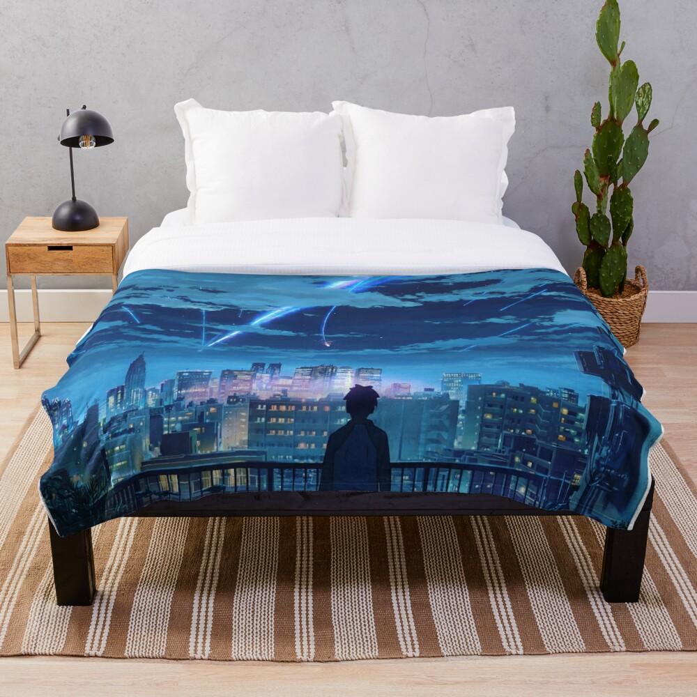 kimi no na wa // your name Taki Stars Balcony  Throw Blanket
