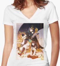 Asobi Women's Fitted V-Neck T-Shirt