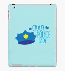 Crazy Police Lady iPad Case/Skin