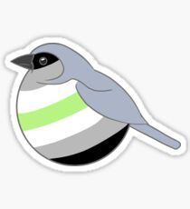 Agender Bird Type 1 Sticker