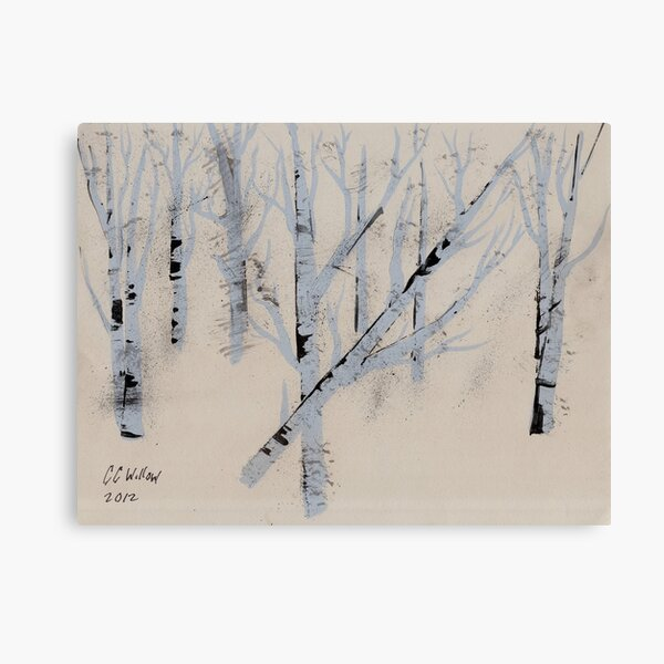 Birch Trees in Winter Canvas Print
