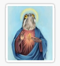 Our Lord and savior potoo bird Sticker